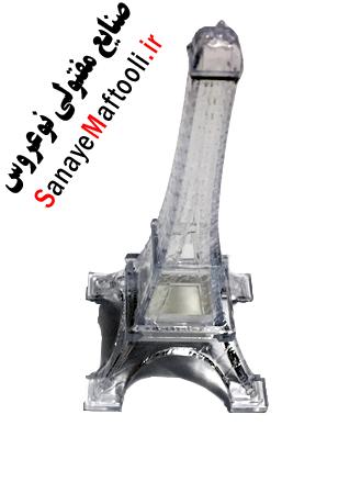 نمک پاش نمکدان نمکدون پلاستیکی طرح کریستال برج ایفل شفاف